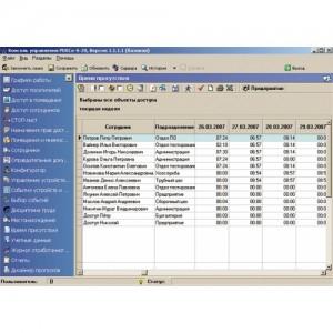 Модуль «Дисциплинарные отчеты», три рабочих места PERCo-SM05