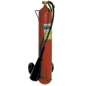 Огнетушитель углекислотный, передвижной ОУ-7 c тележкой