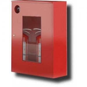 Шкаф пожарный со стеклом белый (правый) ШПО-113