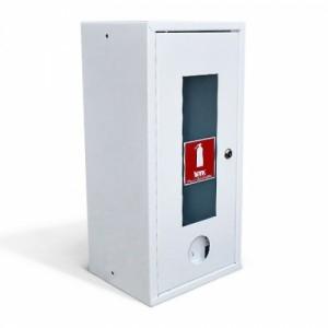 Шкаф пожарный со стеклом белый ШПО-103