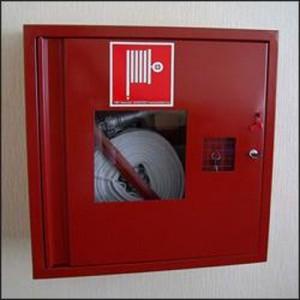 Шкаф пожарный со стеклом красный ПК-310В