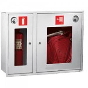 Шкаф пожарный со стеклом белый ПК-315В