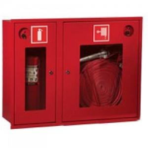 Шкаф пожарный со стеклом красный ПК-315В