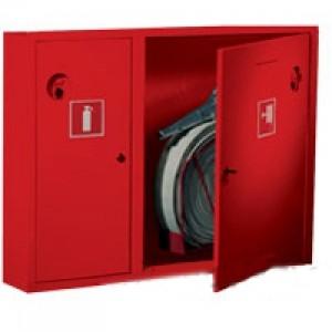 Шкаф пожарный без стекла красный (левый) ПК-315Н