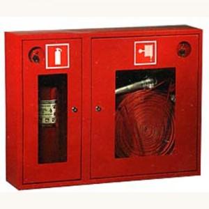 Шкаф пожарный со стеклом красный ПК-315Н
