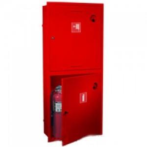 Шкаф пожарный без стекла красный (левый) ПК-320В