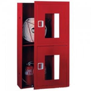 Шкаф пожарный со стеклом белый,красный ПК-320В