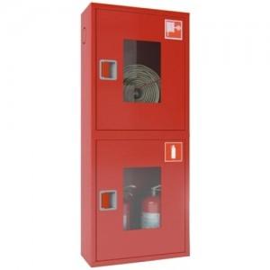Шкаф пожарный со стеклом красный  ПК-320Н
