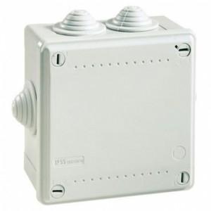 Коробка ответвительная с 6 кабельными вводами Коробка 100х100х50 IP55 (53800)