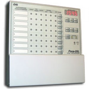 Пульт сигнализации, восемь направлений по 2-х проводной адресной линии Роса-2SL ПС-8