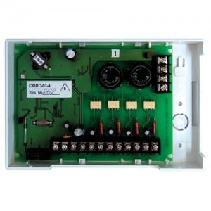 Контроллер для приема сигналов обратной связи от устройств пожарной автоматики сетевой СКШС-03-4, корпус IP 65